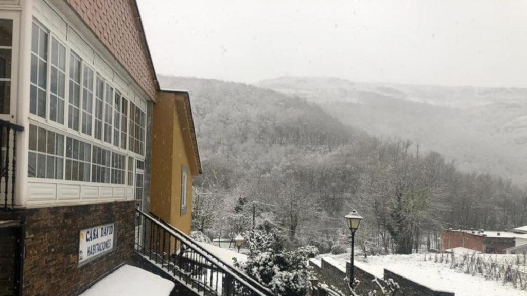 Gran nevada hoy en el Camino Francés en la Comarca de Sarria